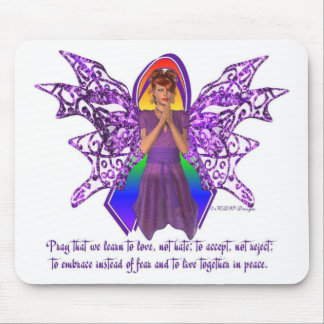 KRW LGBT Acceptance Red Head Faery Mouse Pad