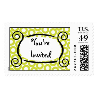 KRW Lime Circle Custom Wedding Stamp