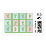 KRW Little Feet Blocks Baby Postage Stamps