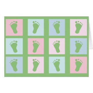 KRW Little Feet Custom Baby Shower Invitation