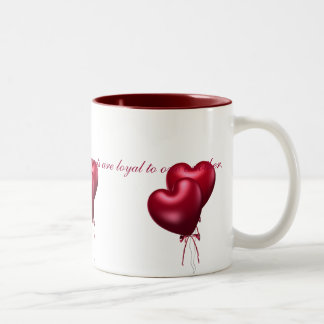 KRW Long Distance Love Two-Tone Coffee Mug