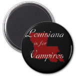 KRW Louisiana is for Vampires 2 Inch Round Magnet