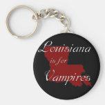 KRW Louisiana is for Vampires Basic Round Button Keychain