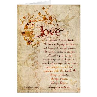 KRW Love Is Corinthians Wedding Invitation Ecru