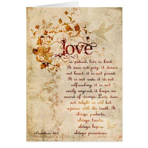 KRW Love Is Corinthians Wedding Invitation Ecru Greeting Card