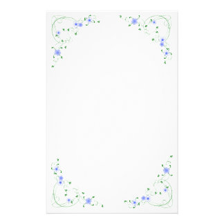 KRW Lovely Blue Floral Stationery