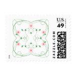 KRW Lovely Pink Floral Stamp
