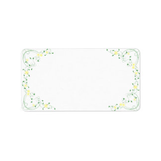 KRW Lovely Yellow Floral Blank Address Label