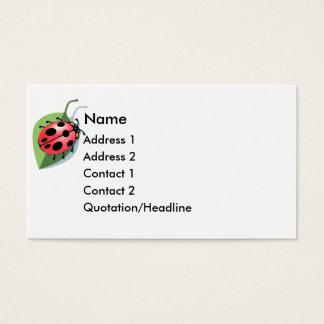 KRW Lucky Ladybug Business Card