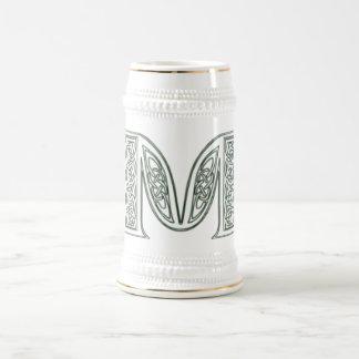 KRW - M - Celtic Monogrammed Stein 18 Oz Beer Stein
