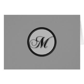 KRW - M - Monogrammed Blank Card - Custom