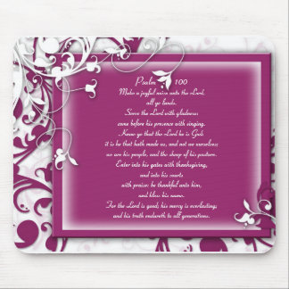 KRW Make a Joyful Noise Unto the Lord Psalm 100 Mouse Pad