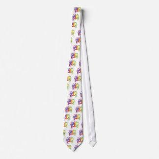 KRW Mardi Gras Feather Mask Neck Tie