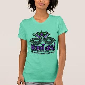 KRW Mardi Gras Mask and Beads T-Shirt