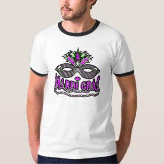 KRW Mardi Gras Mask and Beads T Shirt
