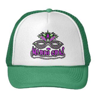 KRW Mardi Gras Mask and Beads Trucker Hat