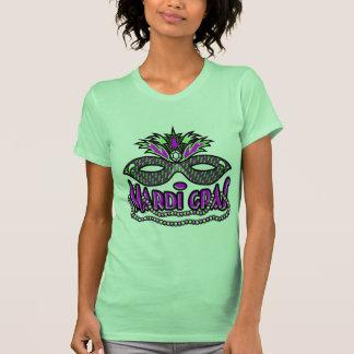KRW Mardi Gras Mask and Beads Tee Shirt