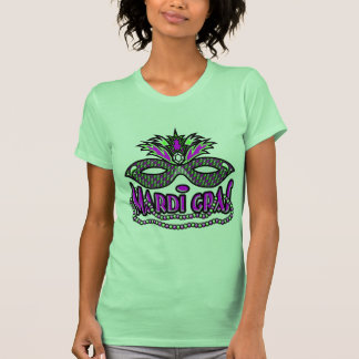 KRW Mardi Gras Mask and Beads Tshirts
