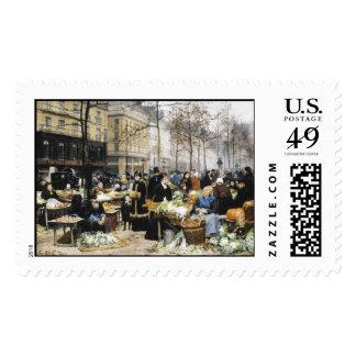 KRW Marketplace Vintage Old Master Painting Stamp