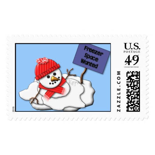 KRW Melting Snowman Postage Stamps