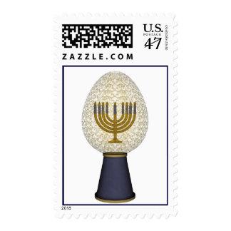KRW Menorah Hanukkah Egg Stamp