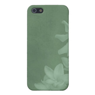 KRW Monochrome Lilies in Icy Teal i Cover For iPhone SE/5/5s