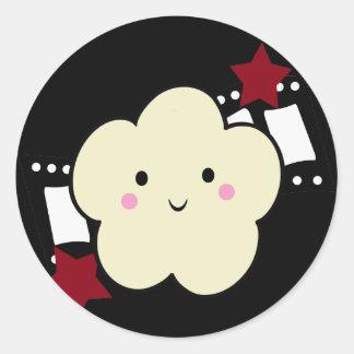KRW Movie Popcorn Kawaii Sticker