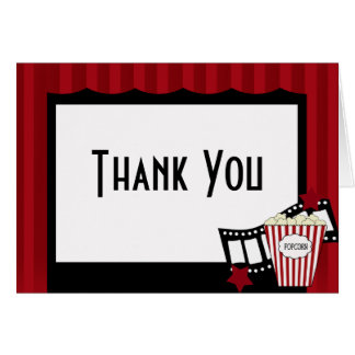 KRW Movie Theater Thank You Notes Stationery Note Card