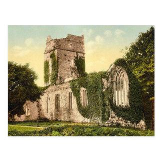 KRW Muckross AbbeyKilarney Ireland Vintage Postcar Postcard