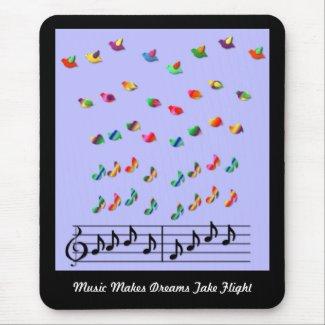 KRW Music Makes Dreams Take Flight mousepad