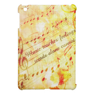 KRW Music Touches Feelings Parchment  iPad Mini Covers