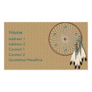 KRW Native American Dreamcatcher Custom Double-Sided Standard Business Cards (Pack Of 100)