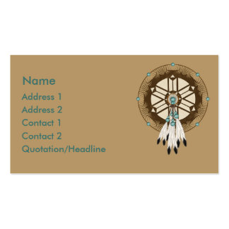 KRW Native American Dreamcatcher Custom Business Card Templates
