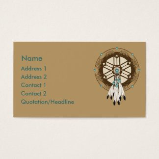 American indian dreamcatcher business cards templates zazzle krw native american dreamcatcher custom business card colourmoves Choice Image