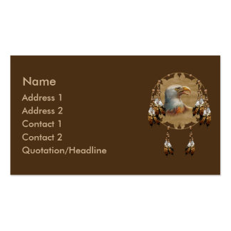 KRW Native American Eagle Dreamcatcher Business Card Templates