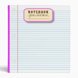 KRW Note Paper Design Custom School Binder