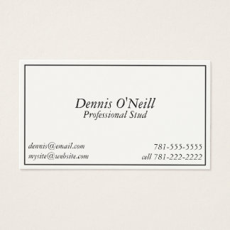 KRW Novelty Joke Professional Stud Business Card