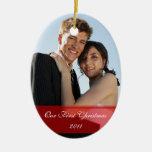 KRW nuestro primer ornamento de encargo del navida Adorno Para Reyes