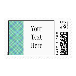 KRW Ocean Plaid Custom Text Stamp