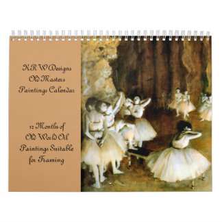 KRW Old Masters Oil Painting Calendar 2012