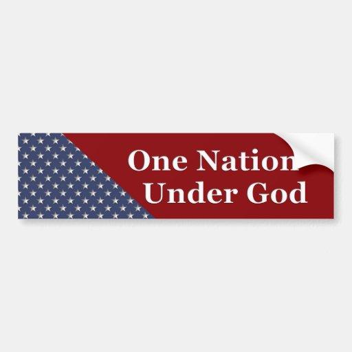 KRW One Nation Under God Bumper Sticker