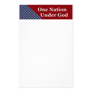 KRW One Nation Under God Stationery