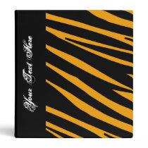 KRW Orange Tiger Stripe Back to School Binder* 3 Ring Binder