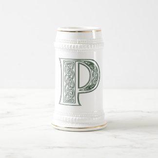 KRW - P - Celtic Monogrammed Stein 18 Oz Beer Stein
