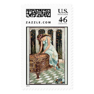 KRW Pandora's Box Vintage Illustration Stamp