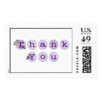 KRW Pansy Thank You Stamp