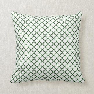 KRW Park Avenue White and Emerald Decor Pillow