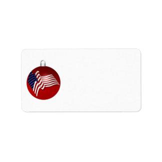 KRW Patriotic Flag Holiday Address Label