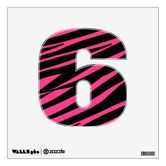 KRW Pink and Black Zebra Diva Six Wall Decal