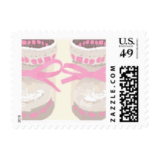 KRW Pink Baby Booties Stamp